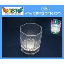 Flashing LED Plastic Short Octagon Cup