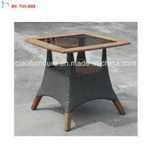 С-Фошань Открытый Патио ротанг квадратный стол из Тикового дерева
