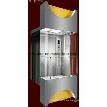 Cuadrado forma panorámica ascensor con 3 lados de vidrio (JQ-A036)