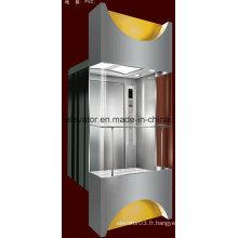 Ascenseur panoramique en forme carrée avec verre à 3 côtés (JQ-A036)