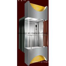 Quadrado forma panorâmica elevador com 3 lados vidro (jq-a036)