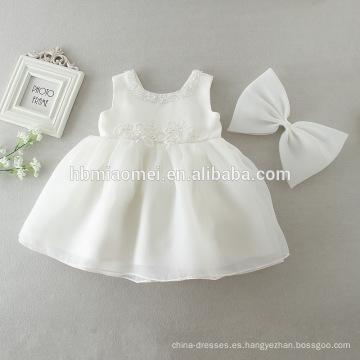 Los más nuevos bebés infantiles vestidos de fiesta de cumpleaños Bautismo bautizo vestido de Pascua Toddler Princess Lace Flower Dress para recién nacido