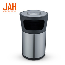 JAH Stainless Steel Round Ashtray Stand Trash Bin