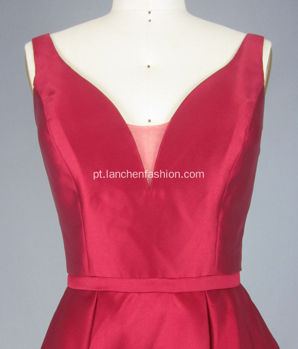 Red V Neck Prom Dresses for Women
