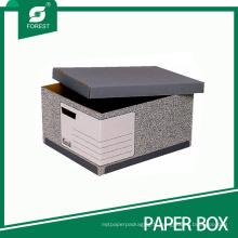 Boîte d'archives de stockage papier bon marché avec couvercle en gros