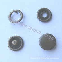 Prong Snap botão na cor de latão antigo