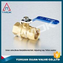 Robinet à tournant sphérique en laiton TK-207 de 1 pouce avec robinet à levier fileté DN 25 femelle Vanne à robinet forgé avec vanne de régulation en TMOK