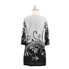 Robe pull imprimée pour femme