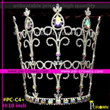 Bulk princess rhinestone tiaras large pageant crowns