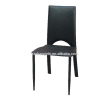 Hotel Black PVC Chair, Backrest Dining Chair for Sale
