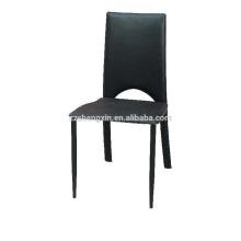 Отель Черный стул ПВХ, спинка обеденный стул для продажи