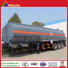 Acier inoxydable de remorque de réservoir de transport de carburant du Tri-Axle 60m3