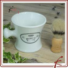 White Glaze Decal Keramik Rasierpinsel Stand