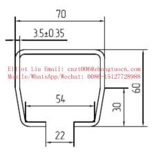 Forma de corrediça da porta deslizante que faz a máquina