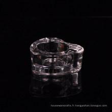 Porte-bougies en forme de coeur en cristal