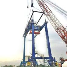 unload container travelling RTG gantry crane price