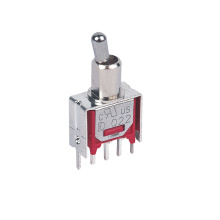 DPDT Silver Terminal Sub-miniature Toggle Switch
