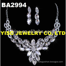 new arrival fashion glass crystal wedding necklace set