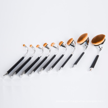 9PCS Hot Sale Oval Toothbrush Golf Cosmetic Brush