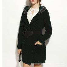 16STC8060 Frauen Winter warme Kabel Mode Wolle Kaschmirmantel