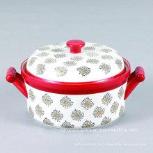Sopera de cerámica personalizada para hornear diseño