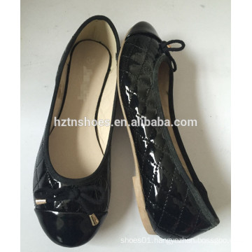 Women classic ballerina padded PU flat pumps cheap price shoes
