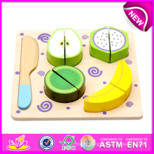 Wooden Vegetable Cutting Set Wooden Cutting Toy for Kids, Play Cut Fruit Toys, Cutting Fruit Set, Wooden Cut Fruit Set W10b091-a