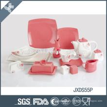 Корейская столовая посуда из тонкой фарфоровой керамики