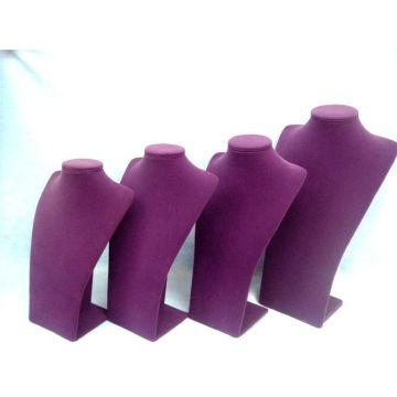 Новая мода фиолетовый бархат ювелирные изделия Дисплей ожерелье стенд (НС-ПВ-ПВ серии)
