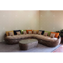 Estilo Popular Water Hyacinth Indoor Home Decor Furniture Sofa Set