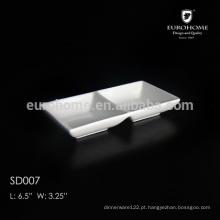 Cerâmica / Porcelana 2 Compartimentos Molho Prato SD007