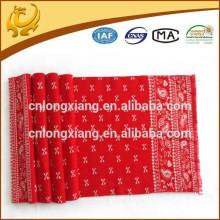 2015 neue kommende Art und Weise fördernde rote Farben-Jacquardwebstuhl-Muster-Großhandelsdame-Schals