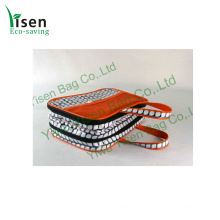 Cotton Coating PVC Tote Cosmetic Bag (YSCBNP014)