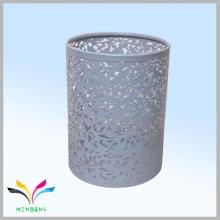 armazenamento de metal de malha metálica cesta de lixo branco