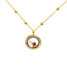 Beautiful stainless steel floating locket new gold neck chain design girls