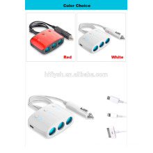 LY-0612 (106) Trending hot products 3 welly y 2 USB socket car cigarette charger (certificado CE)