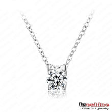 Simple Zircon Chain Necklace (CNL0024-B)