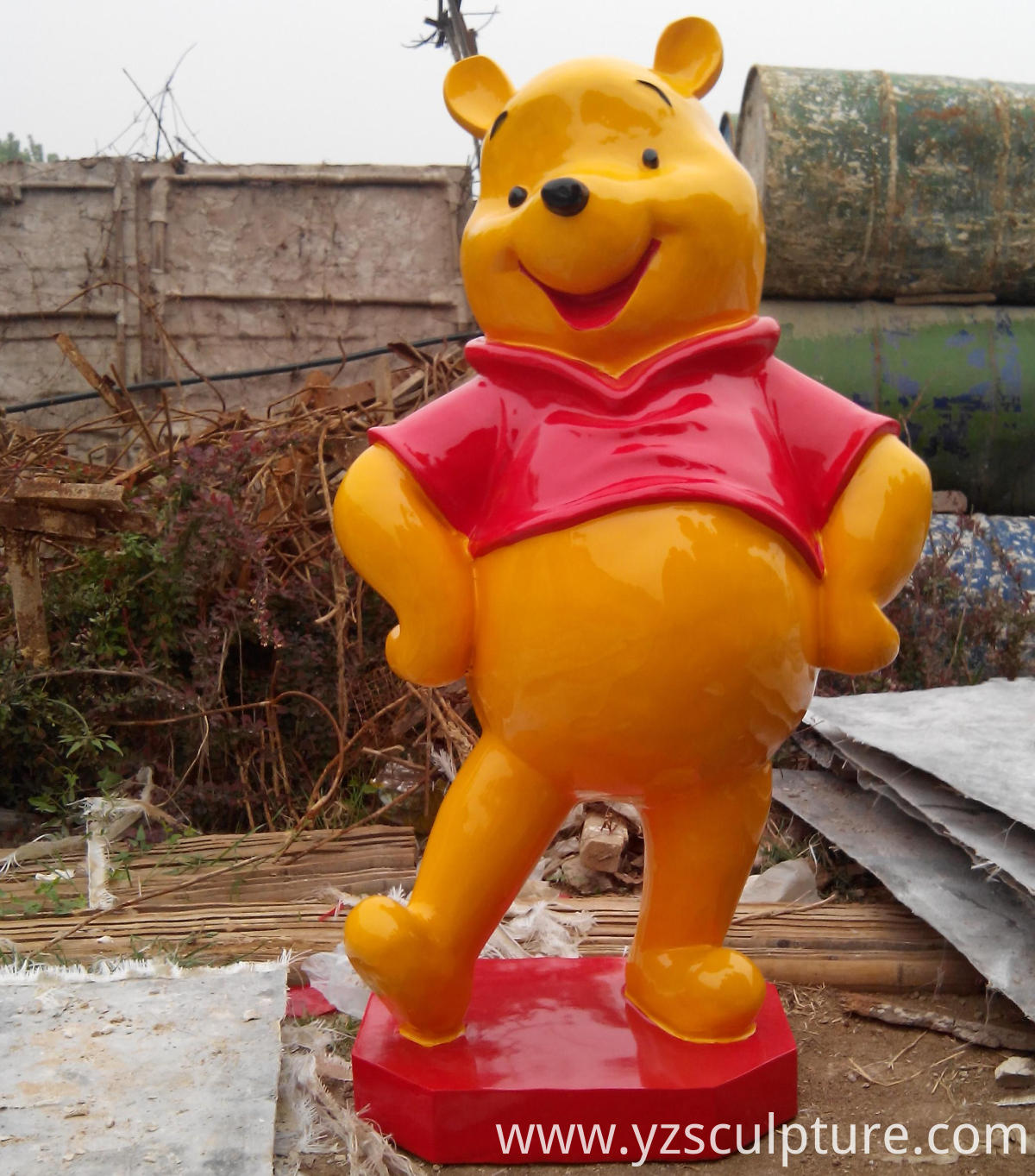 fiberglass cartoon statue