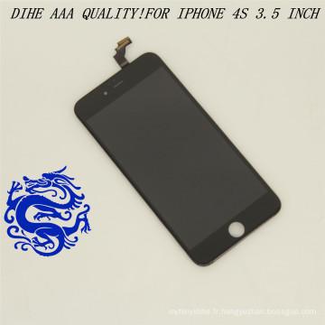 Numériser l'écran tactile d'affichage à cristaux liquides de pièces de rechange de téléphone portable pour l'iPhone 4S