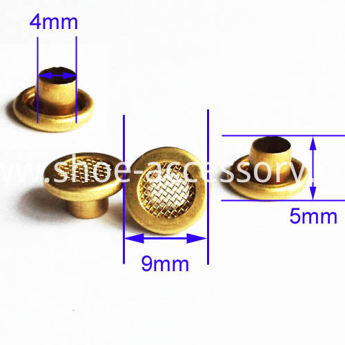 brass mesh eyeltes with washers 9x4x5mm