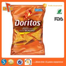 FDA approved cusomt printing laminated back seal plastic potato chips bag