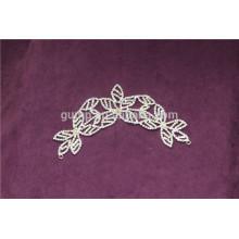 Аппликация свадебного платья из кристалла горного хрусталя