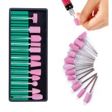 12pcs Manicure pedicure Gel Nail Polish Cleaner Tool Quartz nail drill bit set for women