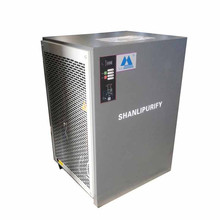 Refrigerated air dryer with dew point display and control for air compressor