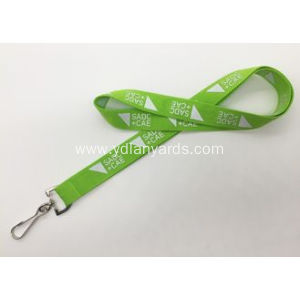 Green Color Silk Screen Lanyards for Promotion