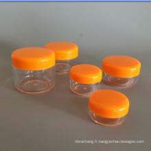 Soins des yeux de plastique vide matière PS crème pot