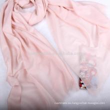 Envío de la gota chal 100% cachemira pashmina color sólido