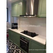 Design popular de alta qualidade China barato estilo americano armário de cozinha de madeira maciça