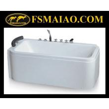 Горячая продажа отдельно стоящая акриловая массажная ванна (BA-8713)