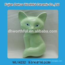 Hochwertiger Keramik-Mini-Luftbefeuchter mit grünem Fuchs-Design